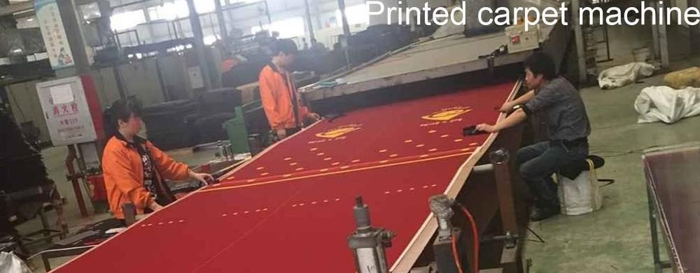 Printed nylon carpet machine