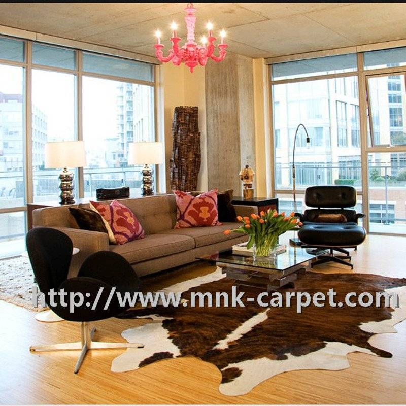 Fashion Style Decorative Full Cowhide Rug For  Living Room