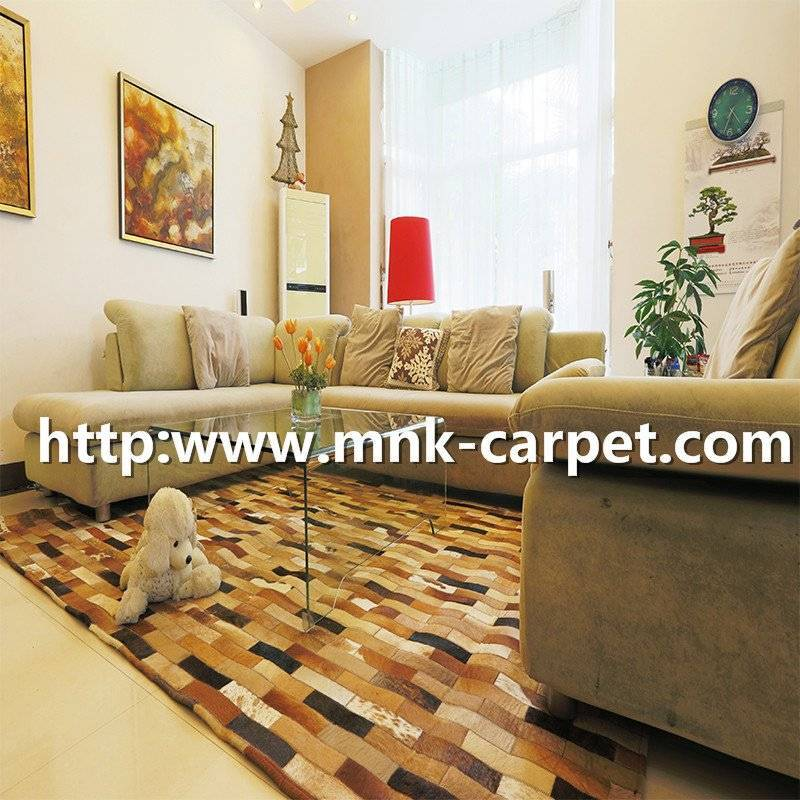 MNK Cowhide Rug Modern Home Living Room Decoration Carpet